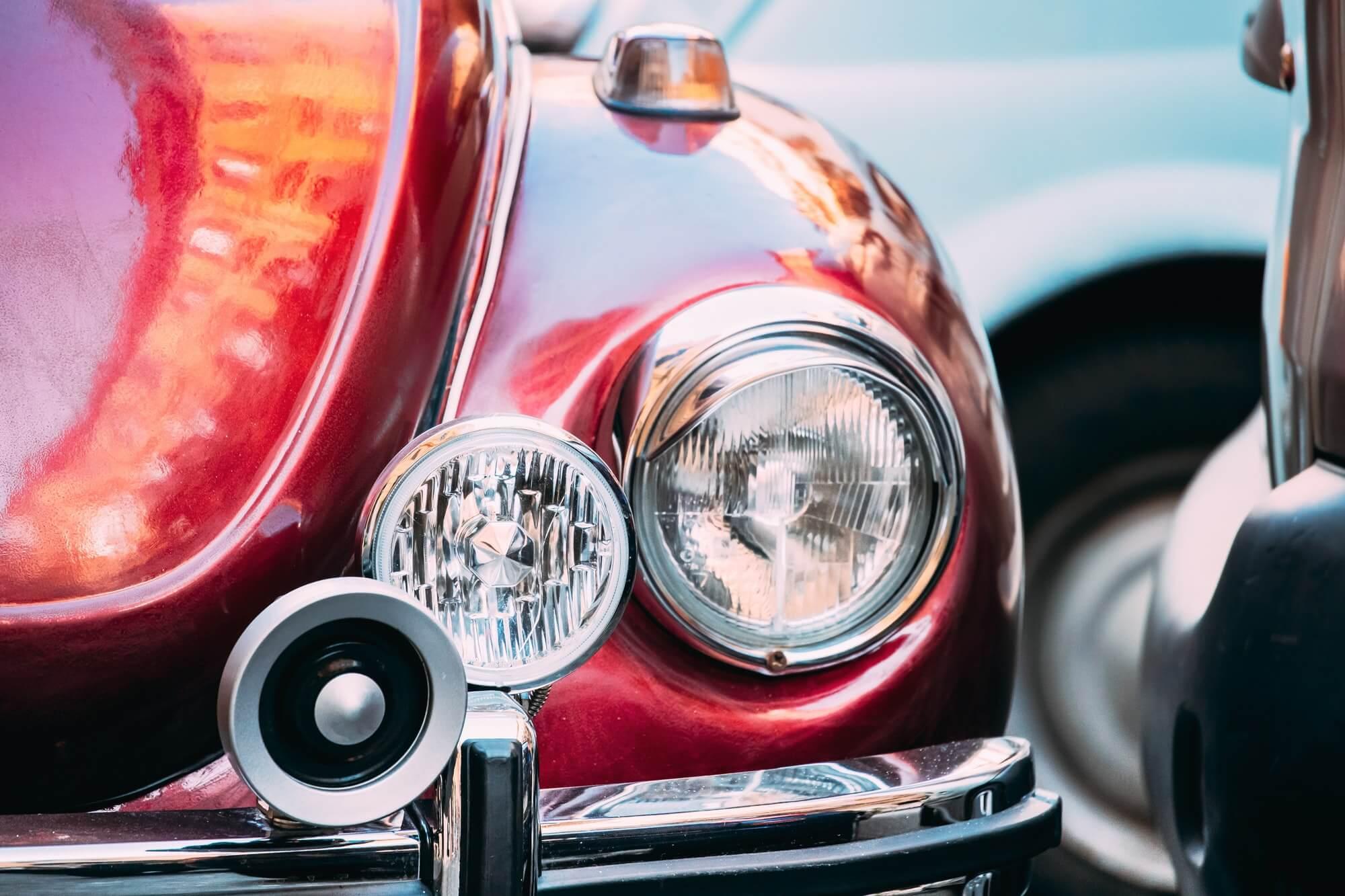 VW Garbus, przednie światła